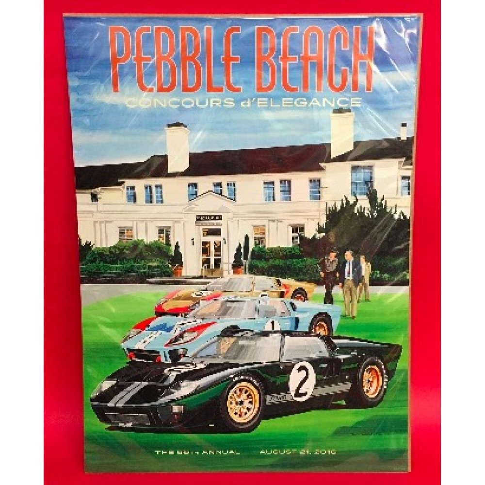 66th Annual Pebble Beach Concours D'Elegance 2016 Official Event Poster