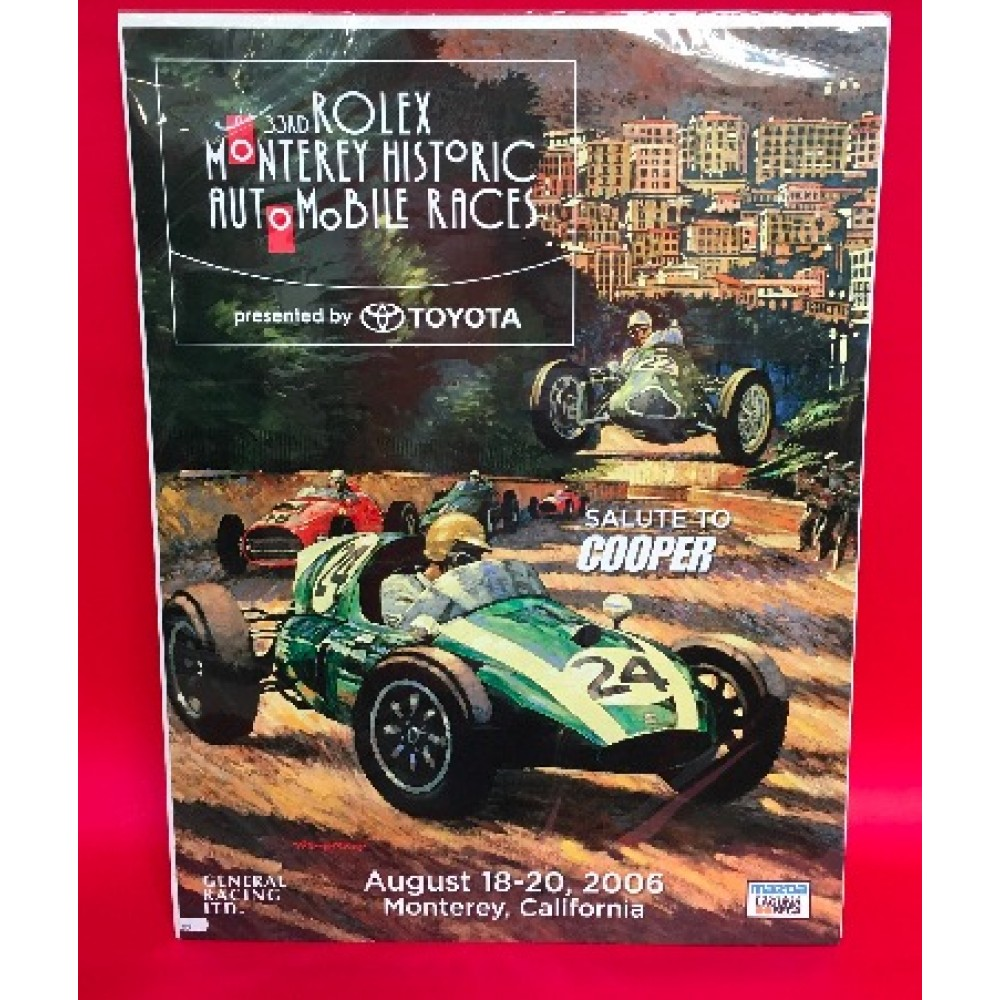 33rd Rolex Monterey Historic Automobile Races Presented By Toyota 2006 Official Event Poster