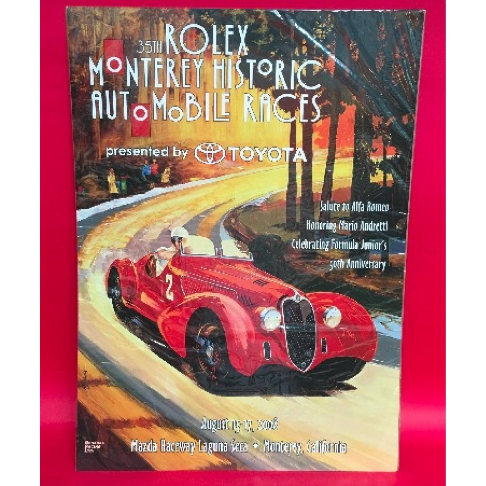 35th Rolex Monterey Historic Automobile Races Presented By Toyota 2008 Official Event Poster