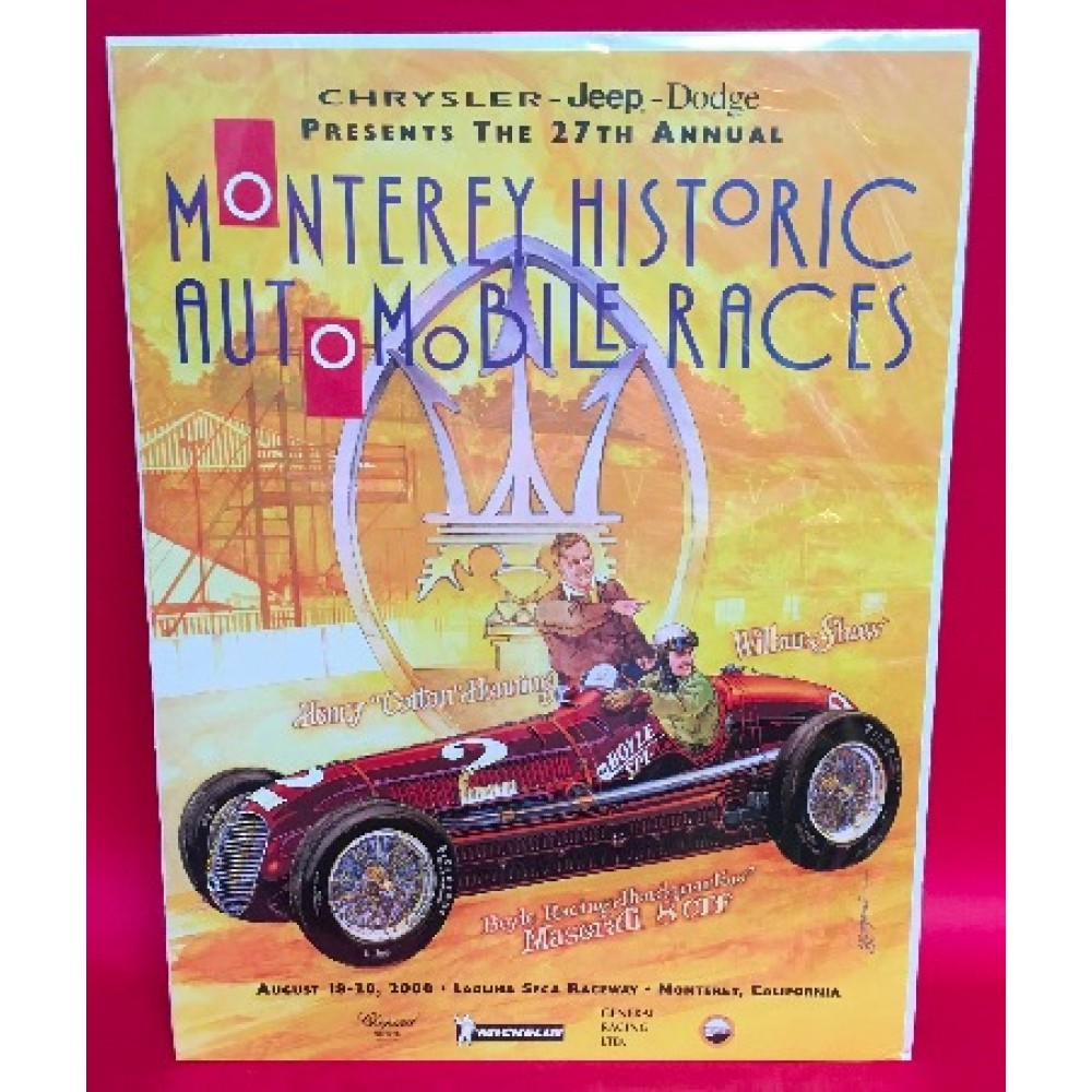 27th Monterey Historic Automobile Races Presented By Chrysler 2000 Official Event Poster