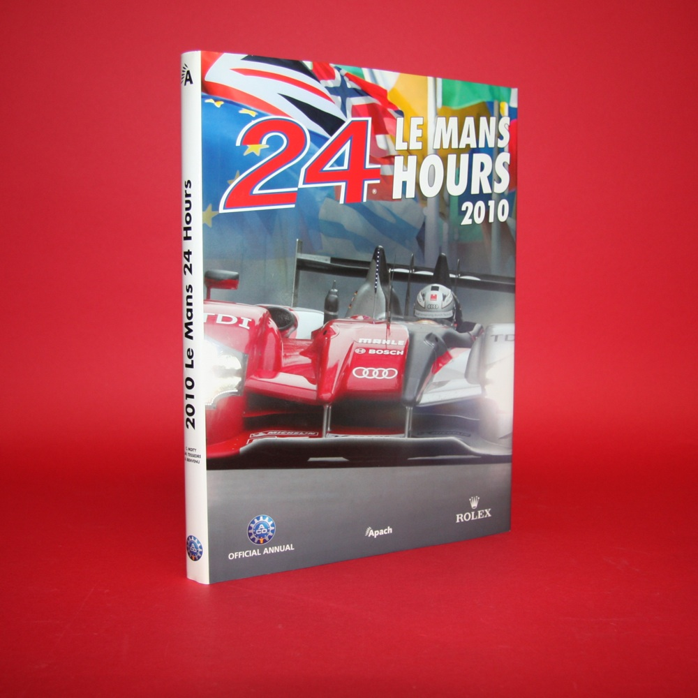 24 Hours Le Mans 2010 Official Yearbook  English Edition, Signed by Romain Dumas / Mike Rockenfeller / Timo Bernhard / Dr Ulrich